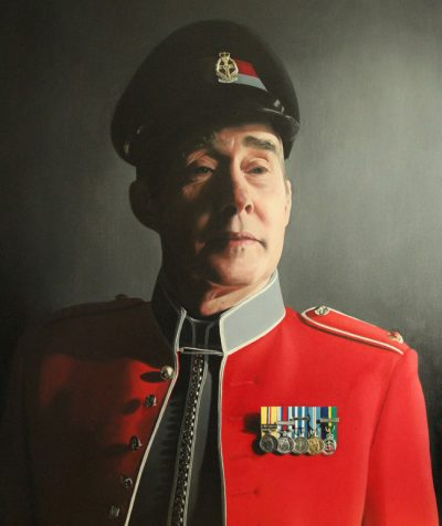 Detailed Portrait Painting of British Army Major