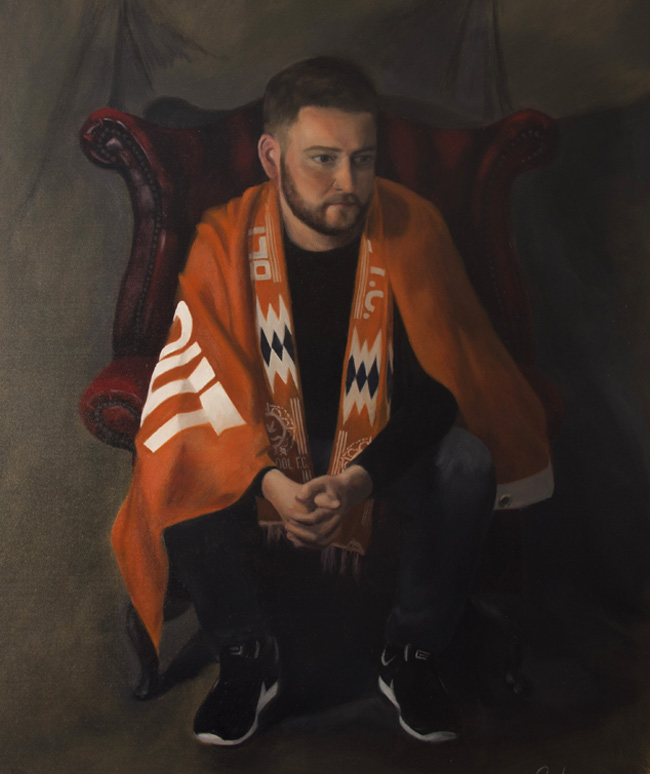 Portrait Painting of Football Supporter