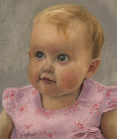 Portrait Oil Painting of Toddler
