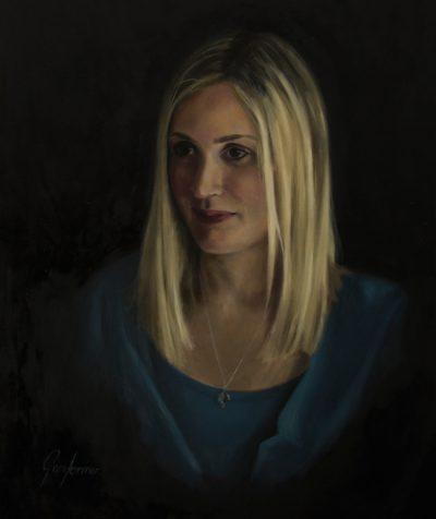 Portrait Painting of Blonde Lady