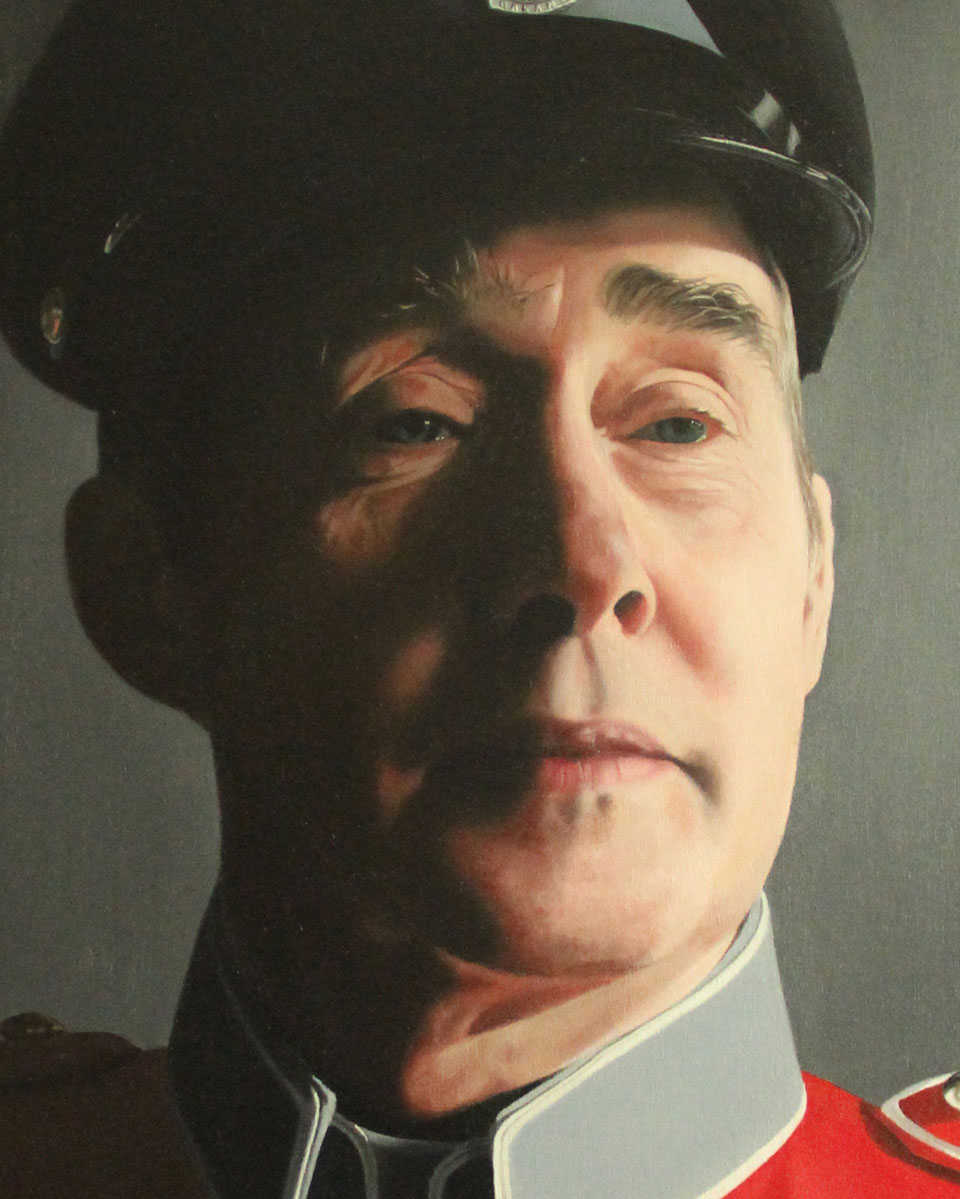 Close Up of Portrait of Army Major