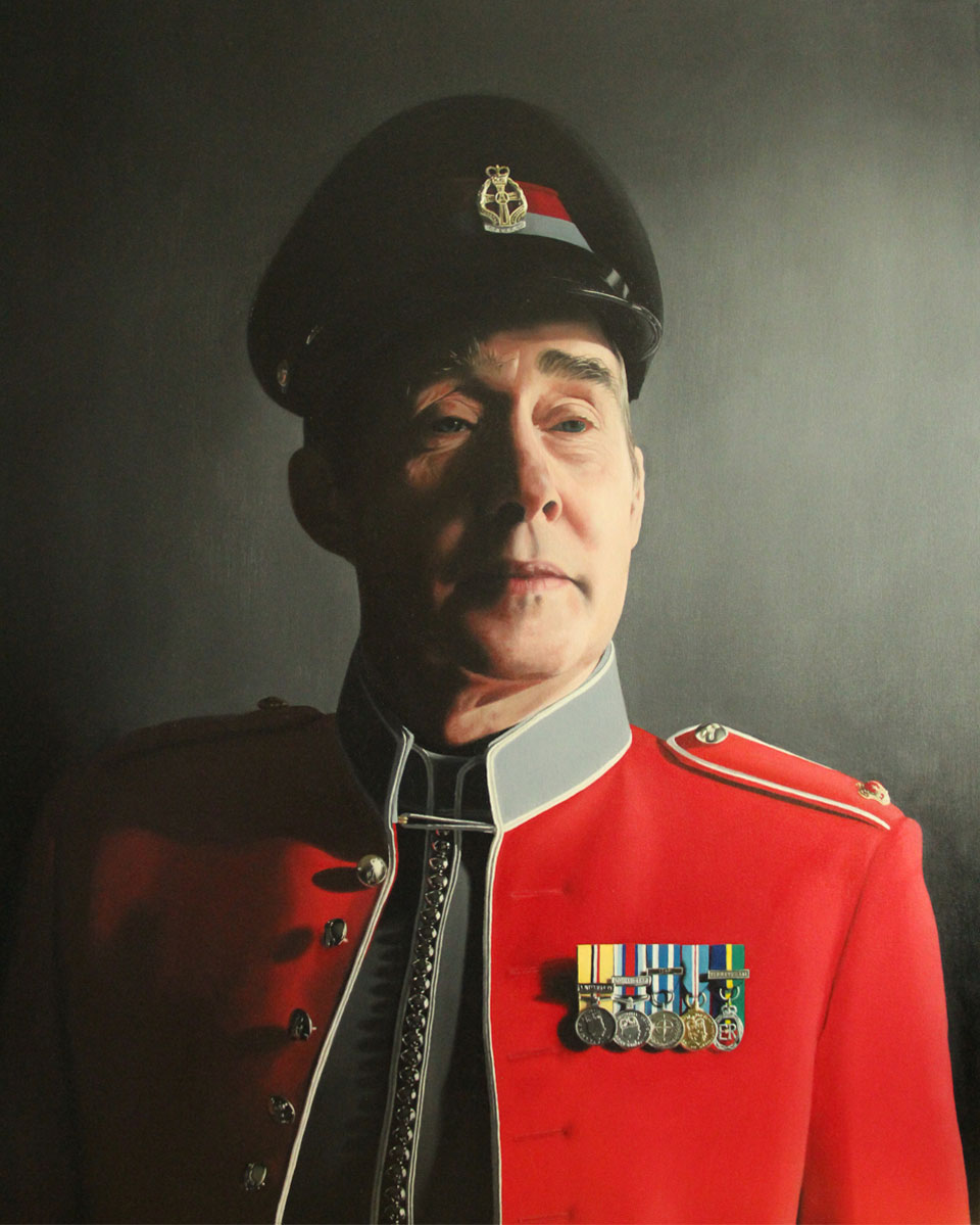 Painting of British Army Major