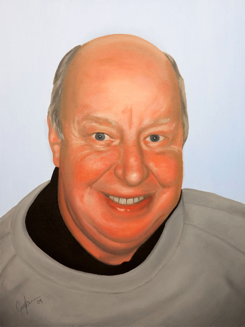 Oil Painting of Mr Priest