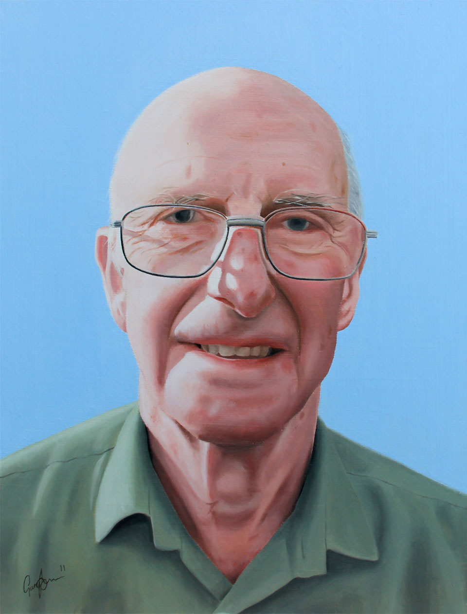 Oil Painting of Mr Crabtree