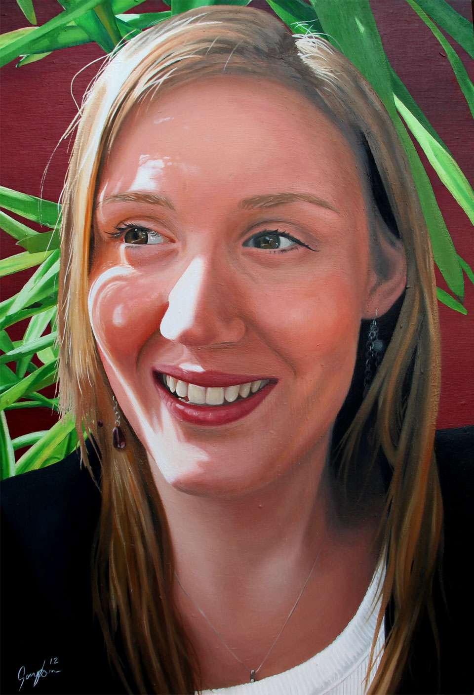 Oil Painting of Rebecca