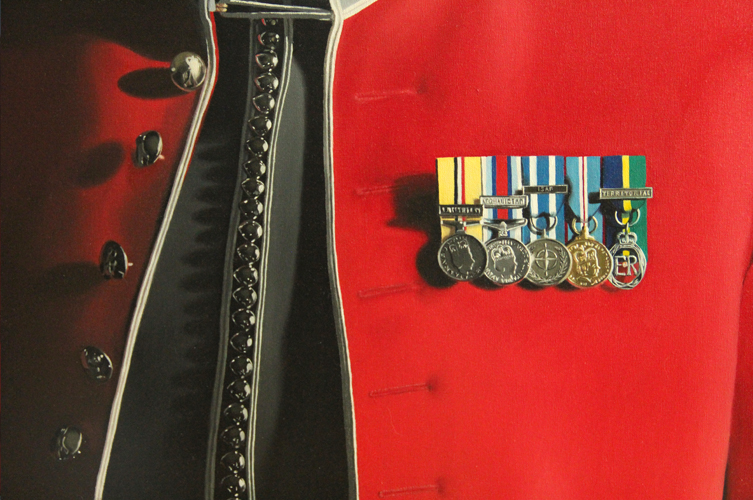 Painting of Military Medals