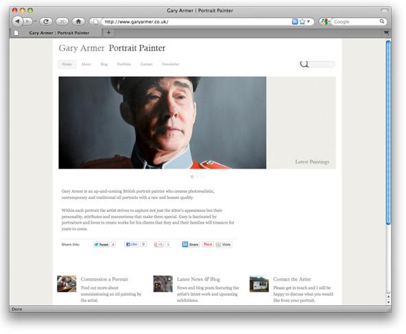 Website of Portrait Artist Gary Armer