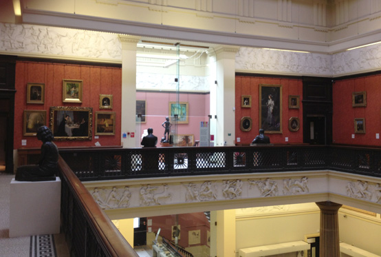 Balcony in the Harris Art Gallery