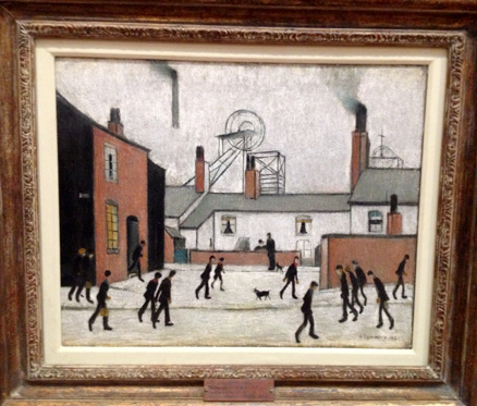 Millworkers - painting by LS Lowry