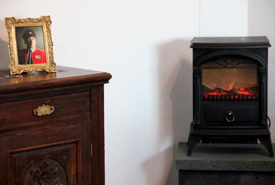 Wood burner in Art Studio