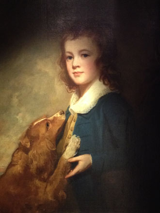 Portrait Painting of a Boy by George Romney