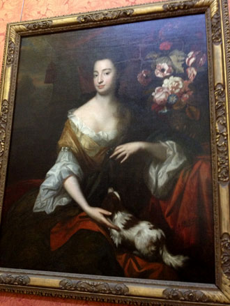 Portrait of a Lady with a Dog by Harman Verelst