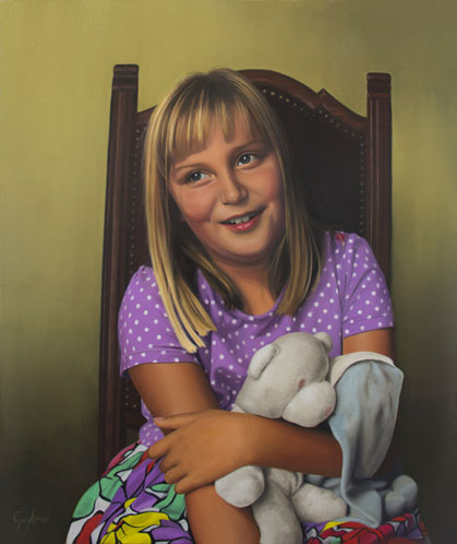 Portrait Painting of a Girl Called Betty
