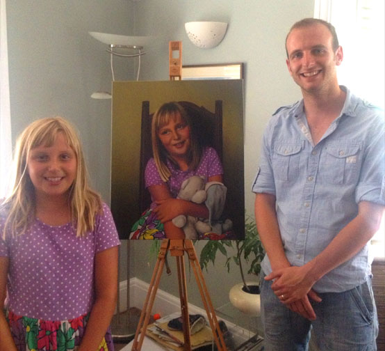 Gary Armer with Young Girl and Portrait