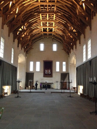 Inside the Rennovated Great Hall, Stirling Castle