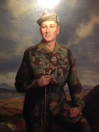 Portrait painting of Lieutenant General Sir Alexander Boswell by Leonard Boden