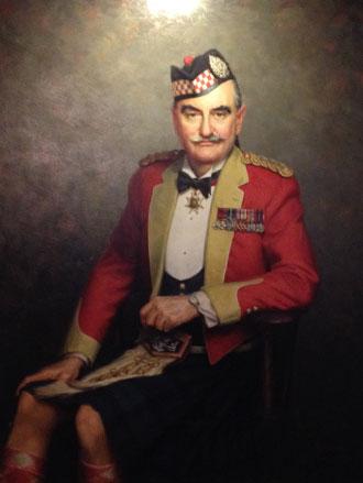 Portrait painting of Major General F. C. C. Graham by Leonard Boden