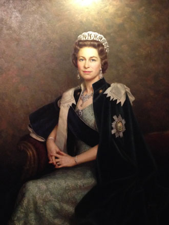 Portrait painting of HM Queen Elizabeth II by Leonard Boden