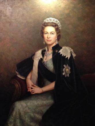 Portrait painting of HM Queen Elizabeth II by Leonard Boden