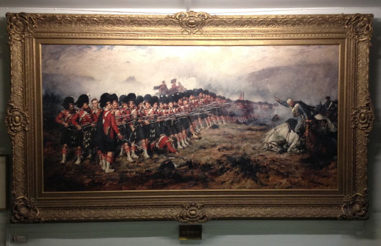 Print of the Thin Red Line painting by Robert Gibb (1881)