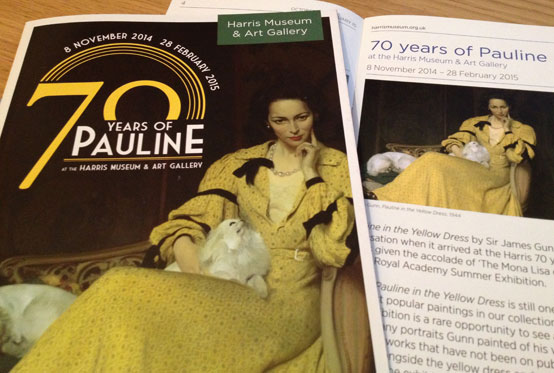 Brochure for the 70 Years of Pauline at the Harris Museum & Art Gallery Exhibition