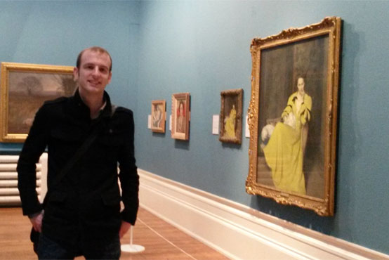 Gary Armer at a viewing of the inspirational Pauline in the Yellow Dress