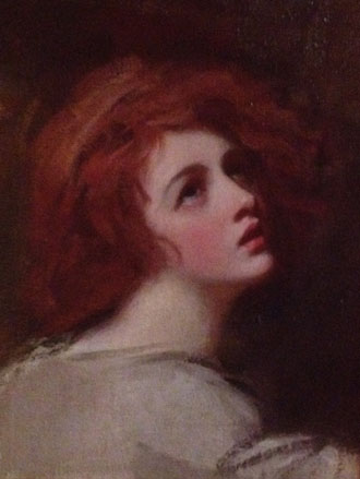 Portrait of Emma Hart as Miranda by George Romney