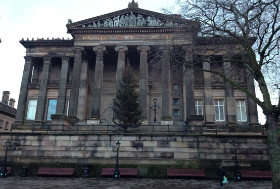 Exterior of the Harris Museum & Art Gallery, Preston, Lancashire