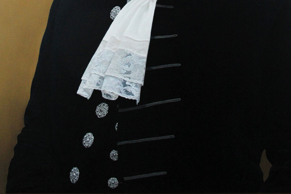 Oil painting of High Sheriff Court Dress