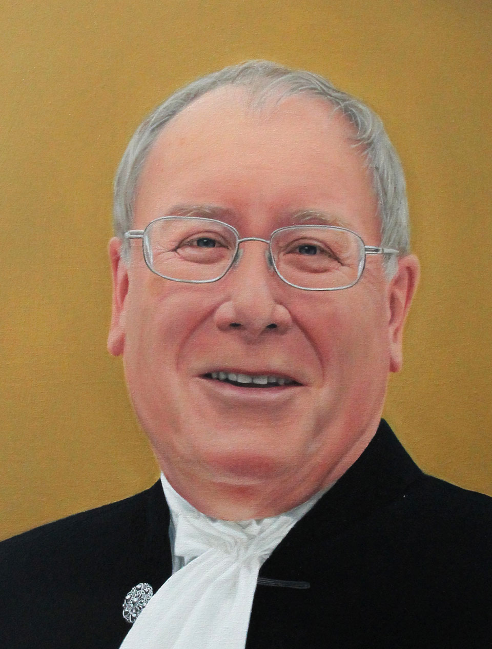 Portrait Painting of High Sheriff - Detail of Face