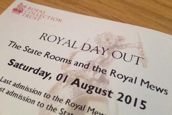 Ticket for Buckingham Palace Royal Day Out