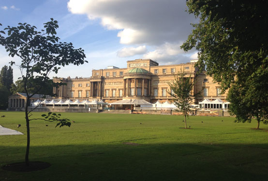 View of Buckingham Palace West Facade from the Gardens