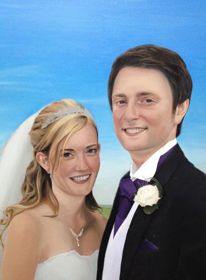 Balancing skin tones of a wedding painting
