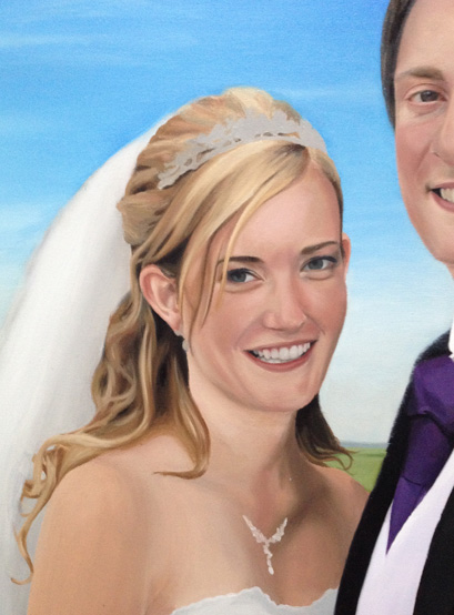 Painting of a Bride's Eyes