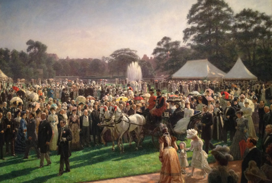 Painting of the Garden Party at Buckingham Palace