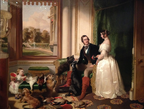 Portrait painting of Queen Victoria, Prince Albert and Victoria Princess Royal