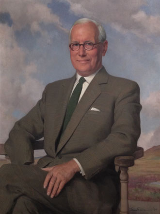 Portrait of 2nd Lieutenant Richard Leslie Brown by Sir Herbert James Gunn