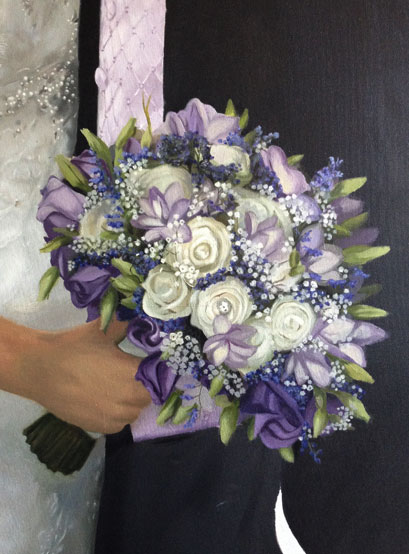 Oil painting of a bouquet