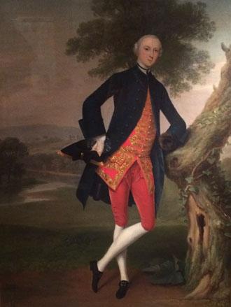 Portrait of Lieutenant Colonel Robert Rich by Preston painter Arthur Devis