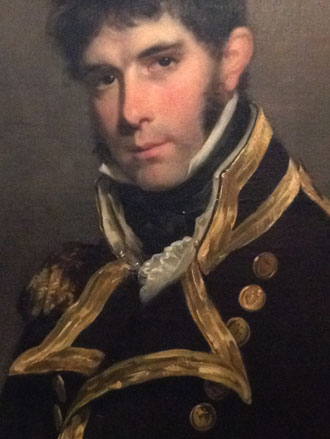 Detail of Military Portrait painting