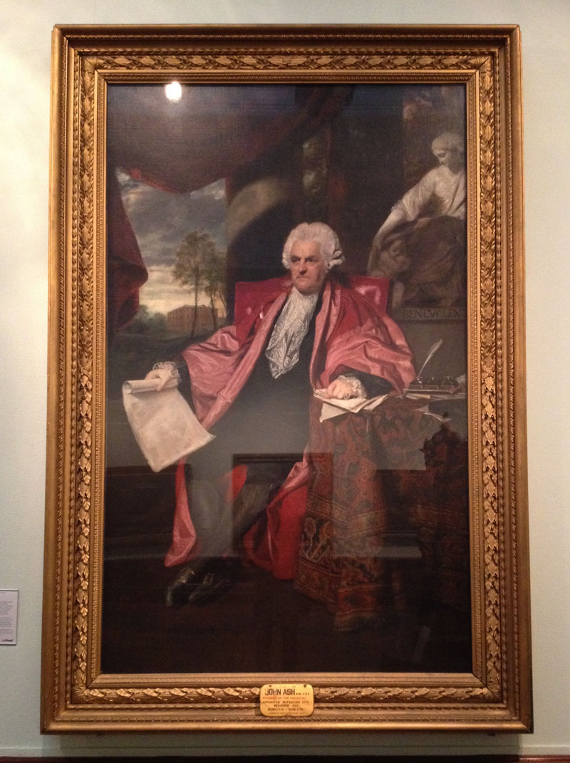 Painting of Dr John Ash by Sir Joshua Reynolds