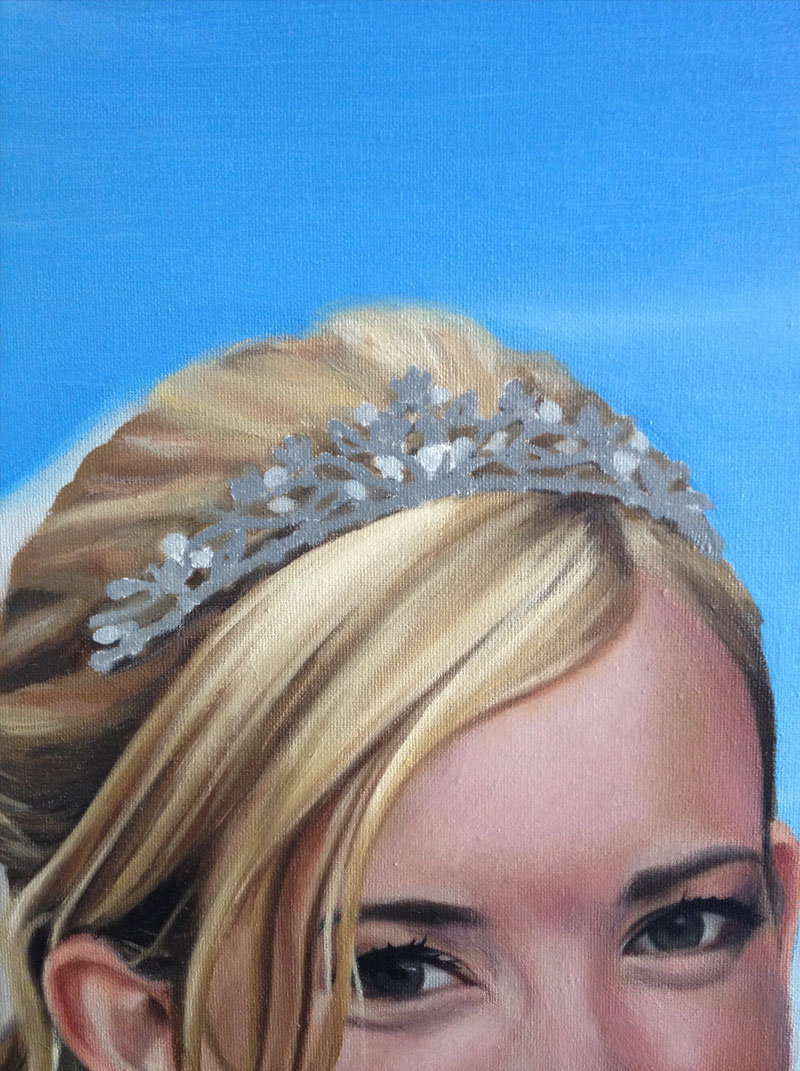 Underpainting of a wedding tiara