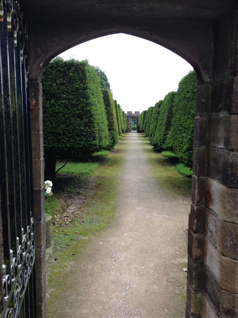 Archway in the gardens of Hoghton Tower