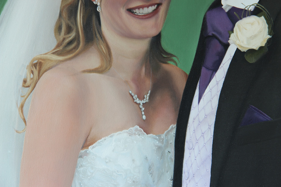 Detail of Bride's Wedding Dress