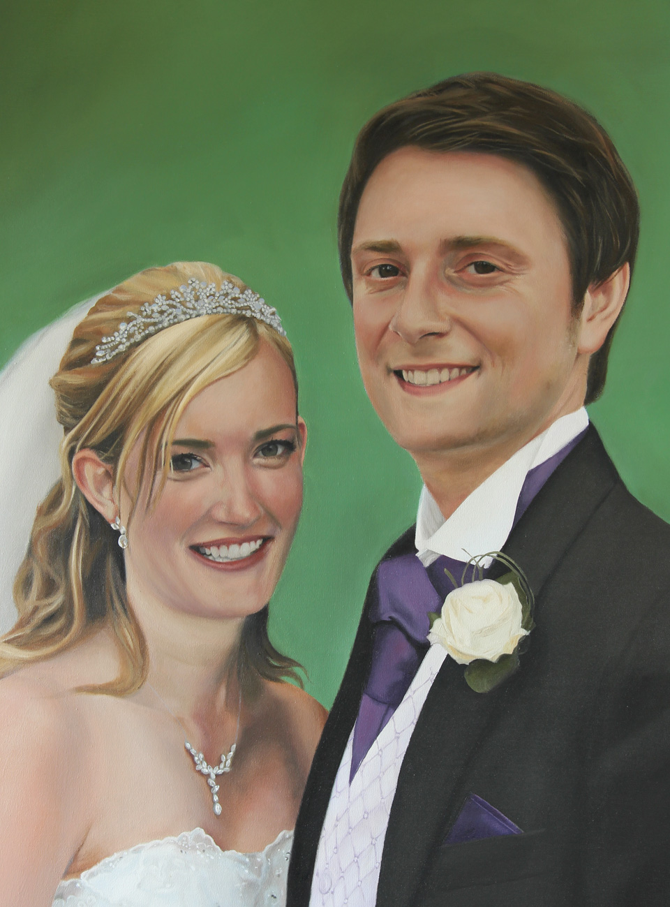 Painting of Bride and Groom