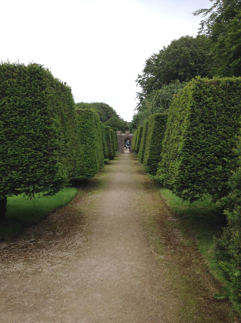 Pathway in the Tudor Gardens of Hoghton Tower