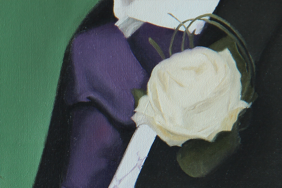 Painting Detail of Groom's Buttonhole