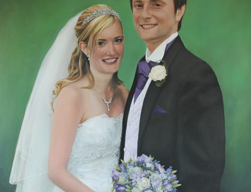 Latest Painting – Incredibly Detailed Wedding Portrait