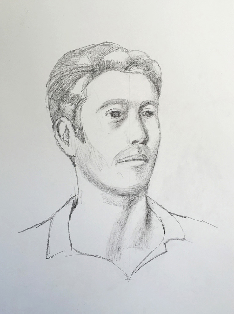 Sight-size Charcoal Sketch - Carl