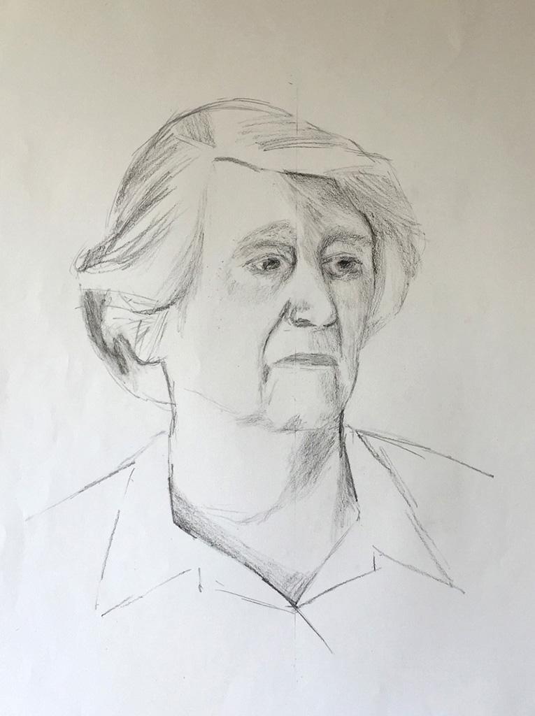 Sight-size Charcoal Sketch - Joyce